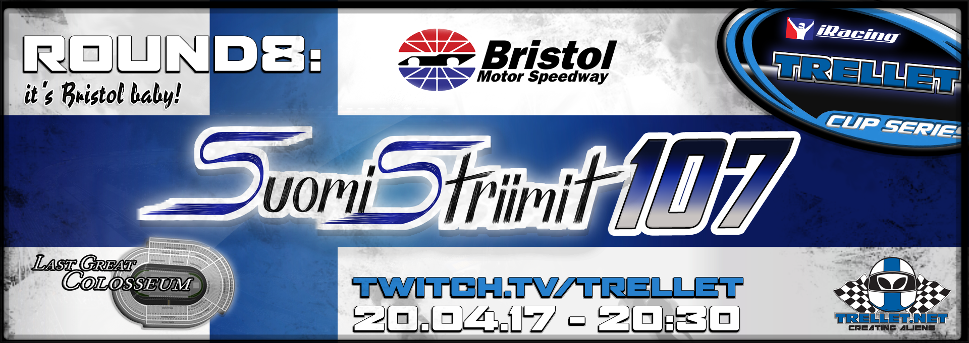 Suomistriimit 107 Bristol Motor Speedway Suora L Hetys